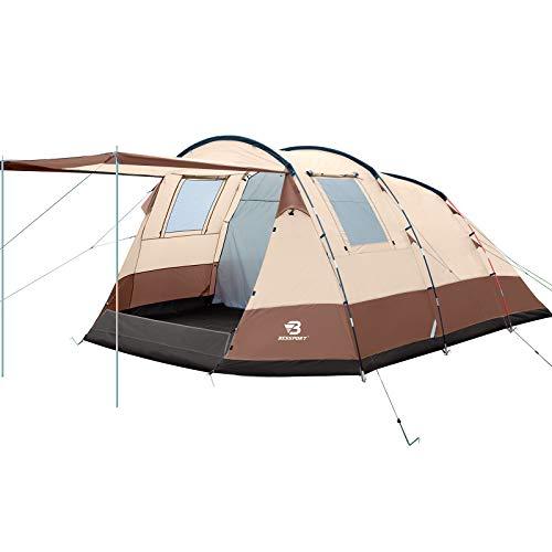 Bessport Tente de Camping pour 10 Personnes, Imperméable/Coupe-Vent Tente de Camping de Sport, Tente de Grande 3-4 Saisons (440 * 340 * 200cm), pour Groupe, Voyage en Famille, Camping en Plein Air