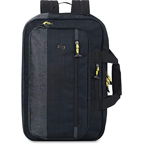 Solo New York Velocity 15.6 Inch Laptop Hybrid Backpack Briefcase, Navy/Grey