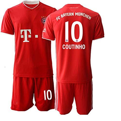 JEEG 20/21 Herren Coutinho 10# Fußball Trikot Fans Jersey Trainings Trikots (XL)