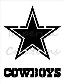 DALLAS COWBOYS Star Football Team 8.5
