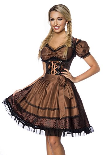 Dirndline Stukken Mini Dirndl Traditionele Jurk van Jacquard (Dress, Schort & Blouse) in Rassen