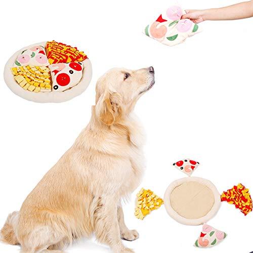 AIWOKE Schnüffelteppich für Hunde,Haustier Interaktives Spielzeug Riechen Schnüffeldecke Futtermatte Trainieren Matte für Klein Mittel groß Hunde Katzen Futtersuchfähigkeiten Waschbar (Pizza)