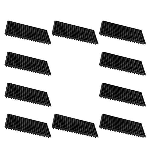 Angoily 10 Bandejas de Iniciación de Plántulas con 200 Células Placa de Germinación de Plantas de Plástico Bandeja de Germinación de Pasto de Trigo Bandejas de Germinación Macetas de