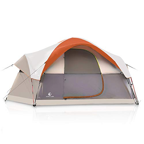 ALPHA CAMP 6 Person Family Tent Dome Tent for...