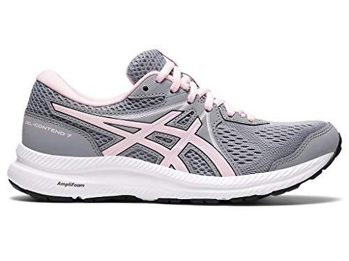 ASICS Women's Gel-Contend 7 Running Shoes, 8.5, Sheet Rock/Pink Salt