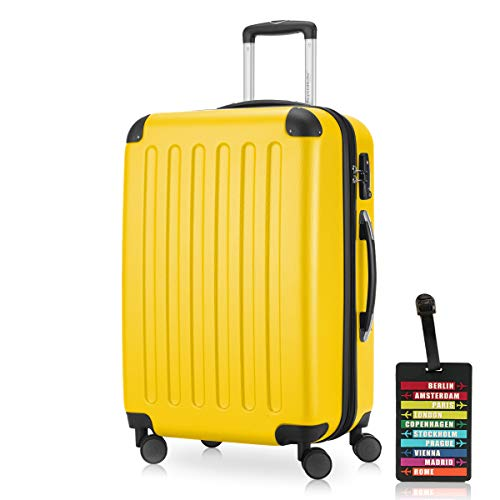 Hauptstadtkoffer, Spree hard-shell suitcase with combination lock and a luggage tag, 1203, yellow (Yellow) - B00XG45W2I