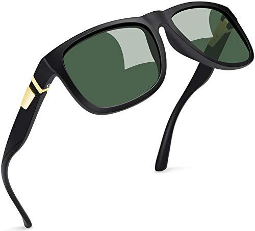 Joopin Gafas de Sol Hombre Polarizadas con Protección UV Clásicas Retro Gafas de Sol Cuadradas Vintage Mujer para Conducir y Deportes al Aire Libre Oliva