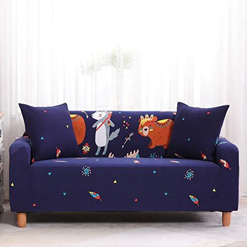 Pure Color Sofa Protector,Elastic sofa cover, non-slip sofa cover, sofa lining, scratch-resistant adjustable protector-H2_2 persons (145-185cm)