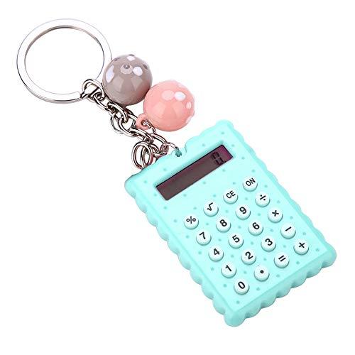 Queen.Y Mini Calculadora de Llavero de Estilo de Galletas Lindo Portátil Calculadora de Bolsillo de Color Caramelo para Niños Estudiantes Regalo Llavero Decoración