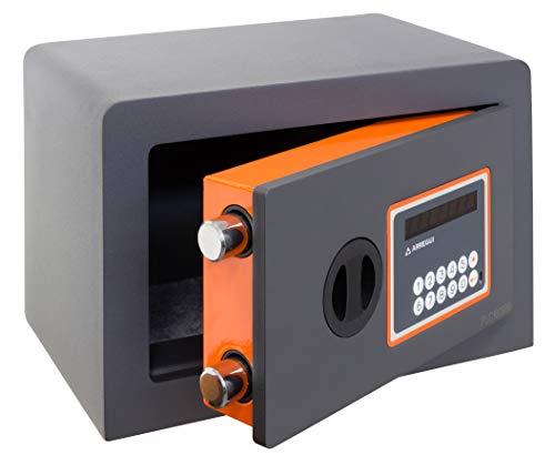Arregui Plus C Electrónica 180110 Caja fuerte de sobreponer, 10+3 mm de espesor, apertura electrónica, 20x31x20 cm, 8 L