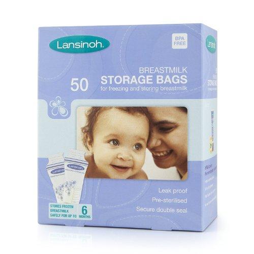 Pack de 50, 100, 150, 200Lansinoh leche materna bolsas de almacenamiento. Talla:1x50