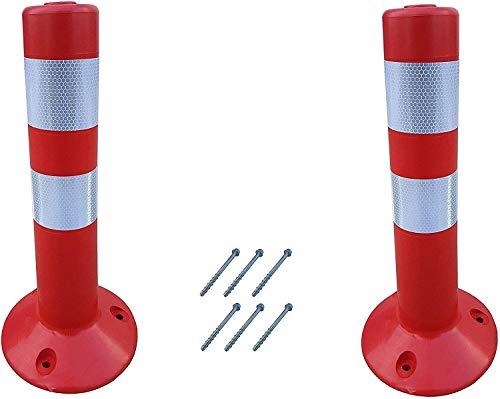 SNS SAFETY LTD Dissuasore Stradali, in Plastica Flessibile, Rosso, 45 cm (Pacco da 2)