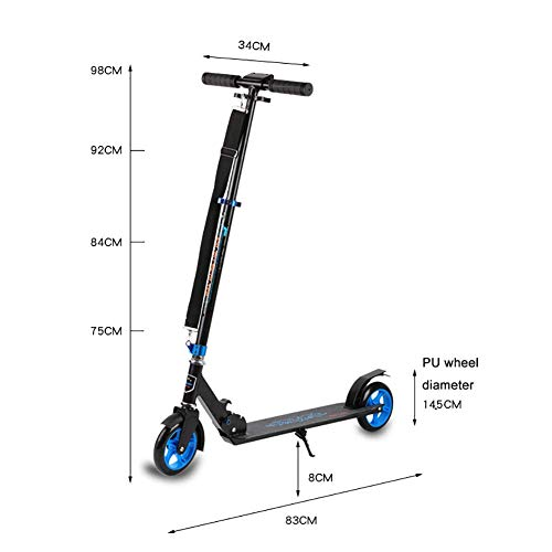 Lowest Prices! PLLP Child Foldable Scooter-Scooter Kick Folding Adult Kick with Adjustable Handle, S...