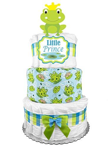 Giraffe Diaper Cake - Baby Shower Gift - Newborn Centerpiece - Blue and Green