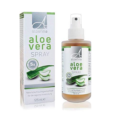 Aloe Vera Spray – Aloe SOS mit Aloe Vera Juice – After Sun und After Shave für sensible Haut – ohne künstliche Farb- und Duftstoffe – Glassprühflasche