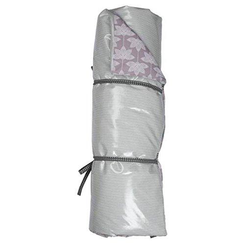 A.U MAISON Picknickdecke Lotus & Linien 70x180cm lila grau