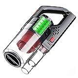 AIZYR Haus- Und Autostaubsauger - 150 W 6000PA Wiederaufladbarer Handstaubsauger Nass- / Trocken-Akku-Vakuum Starke Kraftabsaugung,Rot,USB