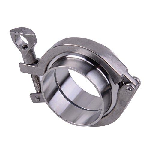 beler 2.5''Zoll Edelstahl 304 V Band-Flanschschellen-Kit Turbo Auspuff Down Pipe