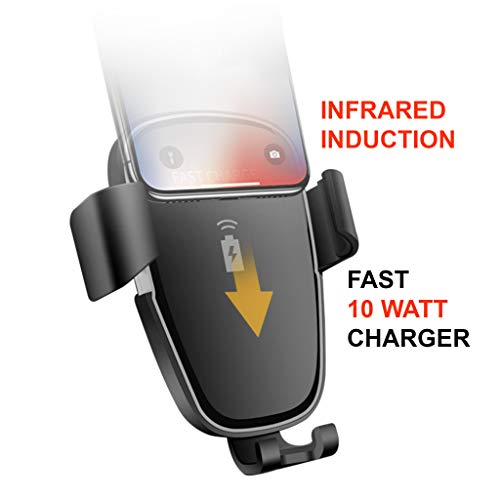 Laguna Fast 10w QI Wireless Universal Car Phone Charger iPhone/Samsung Auto Bloccaggio/Rotante Air Vent Phone Holder