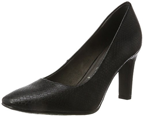 Tamaris Damen 22470 Pumps, Schwarz (Black Snake), 40 EU