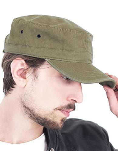 Atlantis Army Military Cap Ripstop Cotton - Khaki - OS