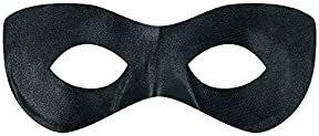 "Amscan Game Ready Team Spirit Party Super Hero Mask Accessory, Black, One Size, 2 7/8"" x 8 1/4"""