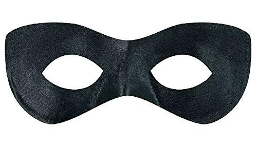Amscan Game Ready Team Spirit Party Super Hero Mask Accessory, Black, One Size, 12ct, 2 7/8