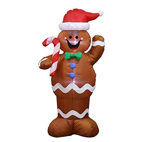 SD&EY Weihnachten Garten Dekoration 1.5M Lebkuchen aufblasbares Modell Weihnachten Aufblasbare Old Man Snowman