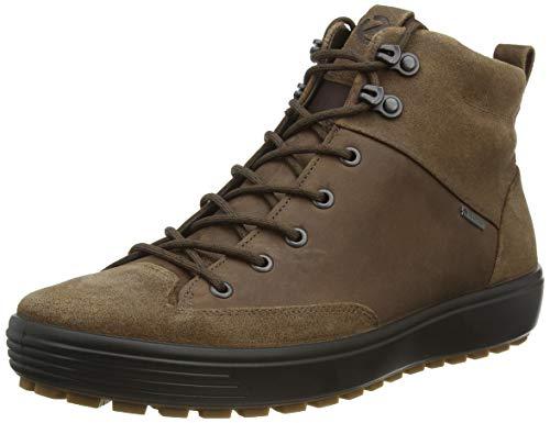 Ecco Herren Mens Soft 7 TRED GTX High Hohe Sneaker, Schwarz (Black/Black 51052), 41 EU
