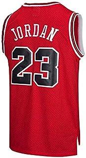 MTBD NBA Michael Jordan, NO.23 Bulls Retro, Camiseta de Jugador de Básquetbol, Bordado Transpirable y Resistente al Desgaste, Camiseta de Fan de Hombres