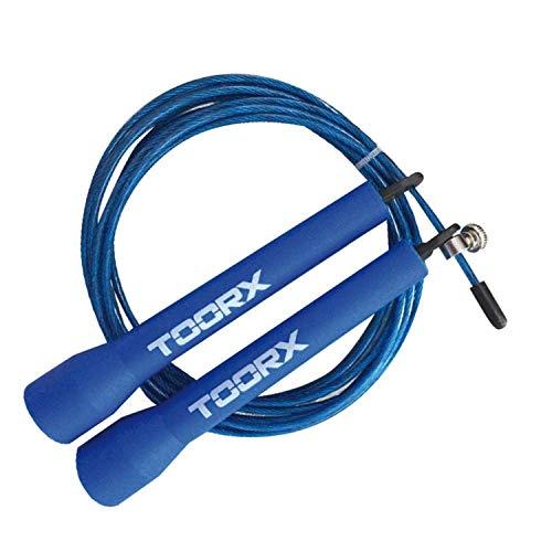 Toorx Corda Da Salto Veloce In Acciaio Con Manopole In Plastica Azzurre