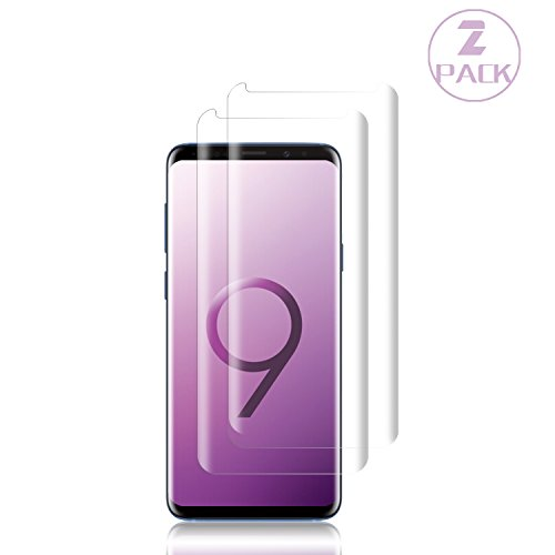 Galaxy S9 Plus Screen Protector,[2-Pack] Cafetec Tempered Glass Screen Protector with [9H Hardness][Easy Bubble-Free Installation][Anti-Scratch] Compatible with Samsung Galaxy S9 Plus.