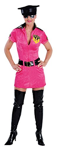 narrenkiste M212112-XS - Vestido de polica para mujer, talla XS, color rosa
