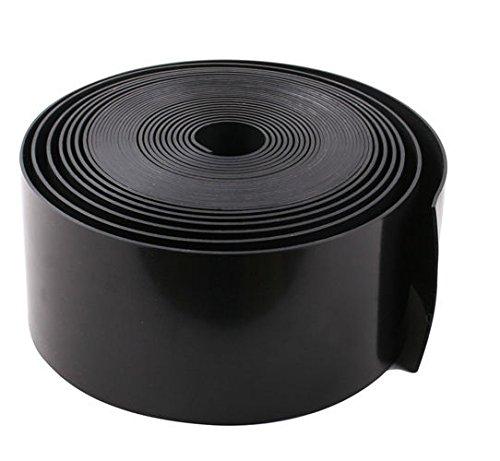 FVG Rasenkante Beeteinfassung Rasenbegrenzung Beetumrandung schwarz - Stärke: 1 mm - Höhe: 19 cm - Profi-QUALITÄT klatt Kunststoff (10, schwarz)