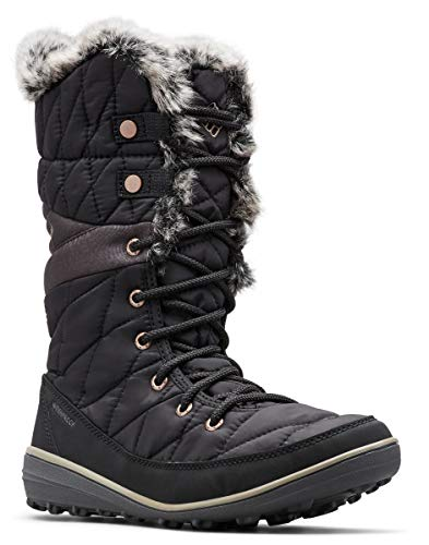 Columbia Women's Heavenly Omni-Heat Snow Boot, Black, Kettle, 7.5 Regular US