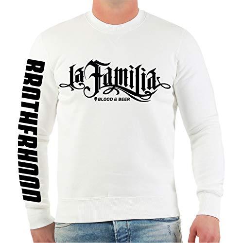 Life Is Pain Männer und Herren Sweatshirt La Familia Blood Beer (mit Rückendruck) Größe S - 4XL
