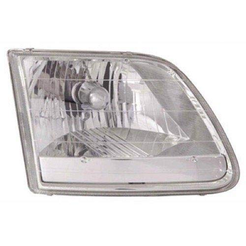 Go-Parts - for 1996 - 2004 Ford F-150 Front Headlight Assembly Housing / Lens / Cover - Left (Driver) Side - (Lariat + STX + XL + XLT) 3L3Z 13008 HA FO2502211 Replacement 1997 1998 1999 2000 2001