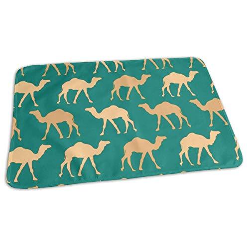 Woestijn Camel Caravan Veranderende Pad Waterdichte Zachte Baby Veranderende Mat om Luier Matrassen Pad Cover voor Jongen en Meisje Pasgeboren (27.5