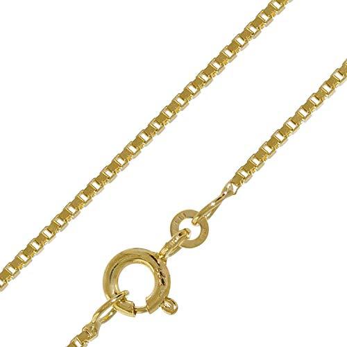 trendor Halskette 333 Gold Venezia für Damen und Herren, Breite 1,2 mm 41635-60 60 cm