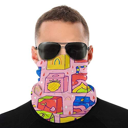 popluck Jugo Box Print Outdoor Multifuncional Turbante y Cuello Legging Tubo Ma-Sk Pañuelo para Hombre y Mujer