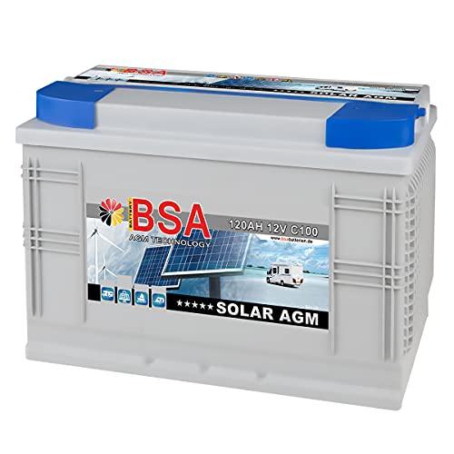 120Ah - 12V Versorgungsbatterie AGM GEL Wohnmobil Batterie Solarbatterie Boot 100AH