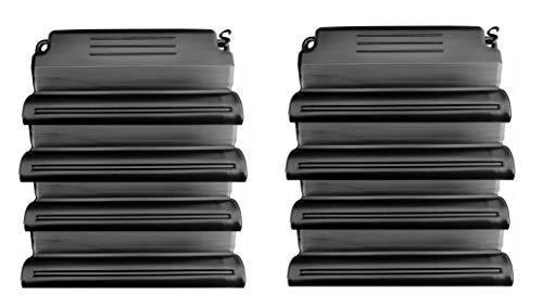 well2wellness® Hochwertiges Pool Eisdruckpolster Set - 8 Stück mit Sand beschwert + Verbindungshaken