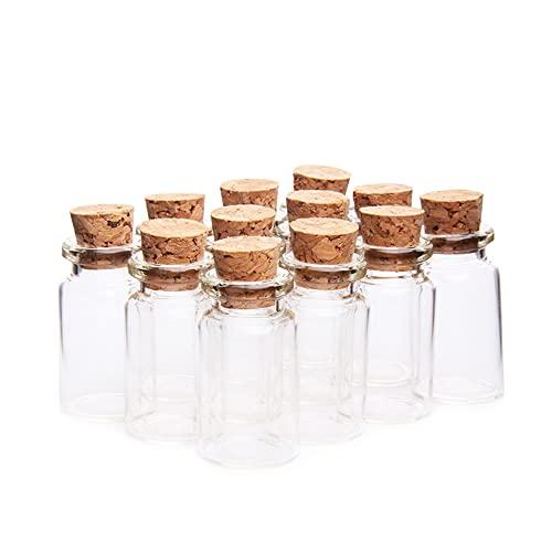 Danmu Art Lot de 20 flacons en verre transparent avec bouchons en liège 7 ml 22 mm x 40 mm