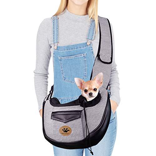 UniM Haustierträger Hund Katze Kleine Welpen Umhängetasche Reisetasche Hände frei zusammenklappbar Tragetücher Rucksack (grau)