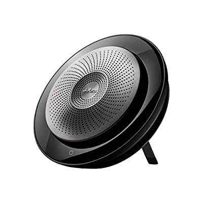 Jabra Speak 710 Speaker Phone - Unified Communications Certified Portable Conference Speaker with Bluetooth Adapter and USB - Connect with Laptops, Smartphones and Tablets, Retail Pack,Black by Jabra