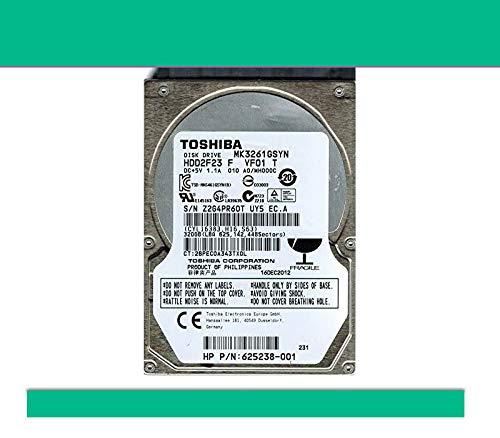 Hard Disk Toshiba 320GB SATA 2,5' mk3261gsyn compatibile con Notebook (Ricondizionato)
