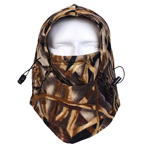 Your Choice Balaclava Outdoor Sports Mask, Fleece Heavyweight Balaclava Face Mask for Snowboard Snowmobile Ski Camping Hunting and Other Winter Activities Camo Forest