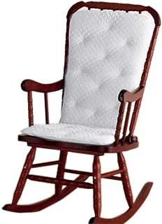 Baby Doll Bedding Heavenly Soft - Cojín para silla mecedora para adulto, color blanco (silla no incluida)