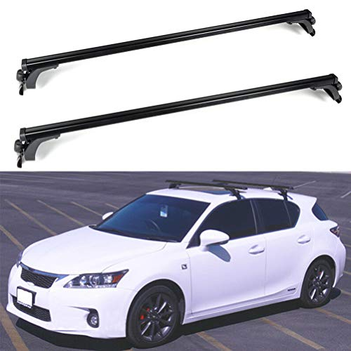 ROADFAR 55†Roof Rack Aluminum Top Rail Carries Luggage Carrier Fit for 1995-2005 Dodge Neon,1993-1997 Eagle Vision,2013-2018 Ford C-Max,1992-2011 Ford Crown Victoria Baggage Rail Crossbars