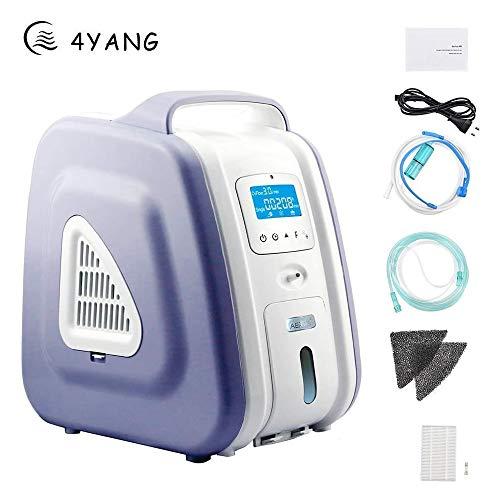Zuurstofconcentraator, 1-5 l/min 93% zeer zuiver draagbare zuurstofconcentraator-generator met draadloze besturing zuurstofmachine voor thuisreis met de auto